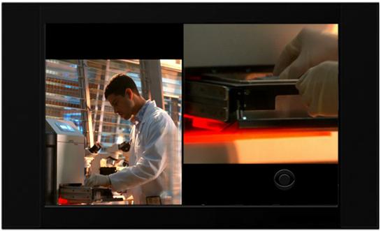 "Daedalus designed FEI/Aspex Scanning Electron Microscope on the CBS crime drama ""CSI: Miami"""